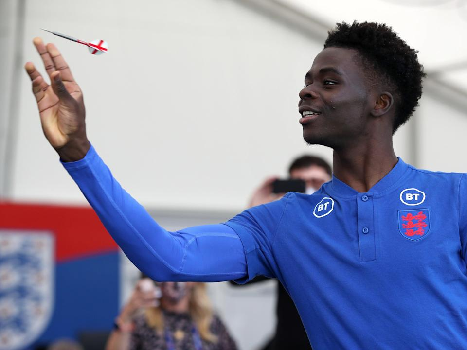 England and Arsenal youngster Bukayo Saka (Getty Images)