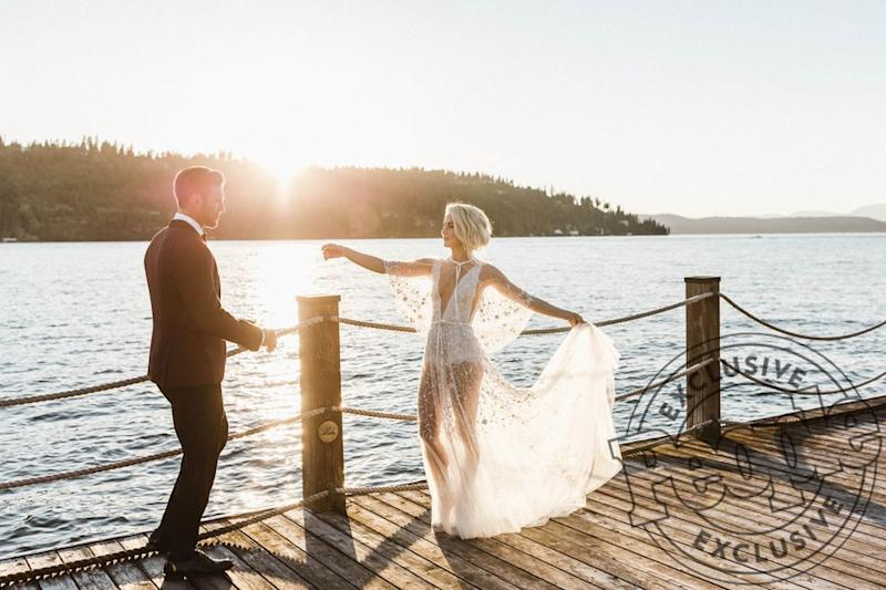 Julianne and Brooks Laich on their wedding day.