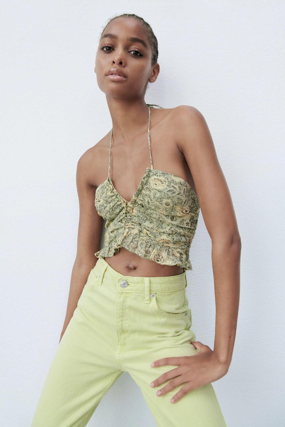 <p>This <span>Draped Print Top</span> ($36) will pair well with your next date night or dinner with the girls. The fit and style will earn you tons of compliments.</p>