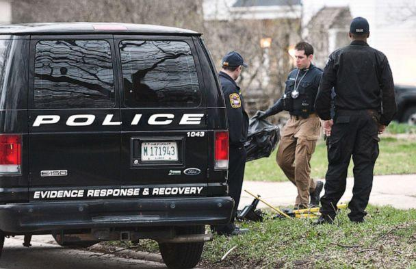 PHOTO: Police remove items from the home of missing 5-year-old boy Andrew 'AJ' Freu in Crystal Lake, Ill. on Thursday, April 18, 2019. (Paul Valade/Daily Herald via AP)
