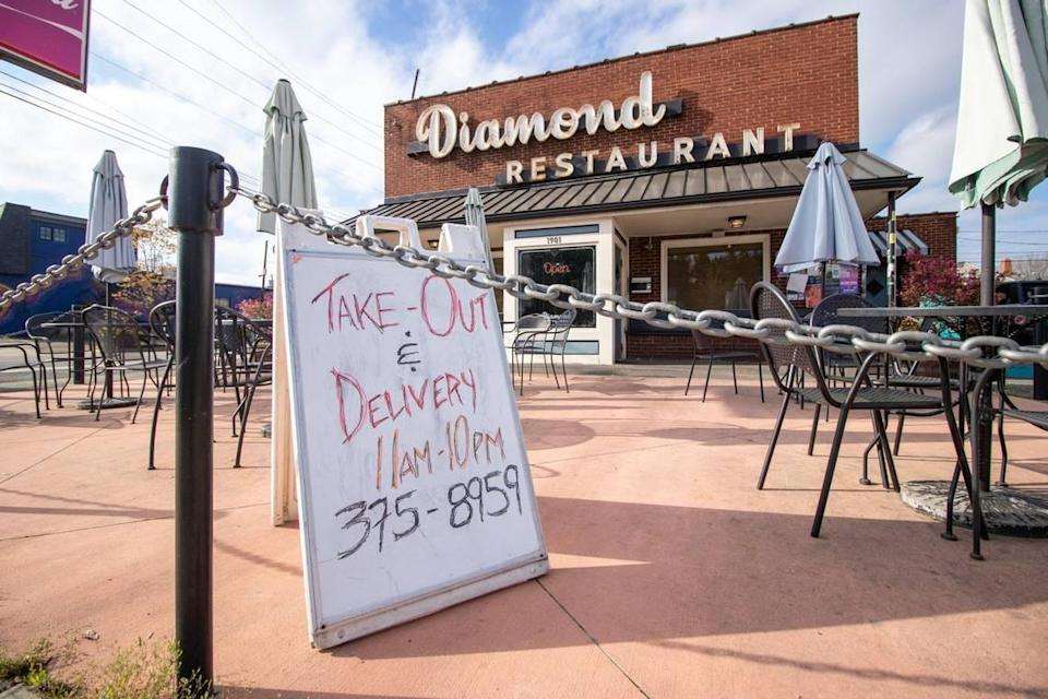 The Diamond Restaurant shifted to takeout and delivery during the COVID-19 pandemic.