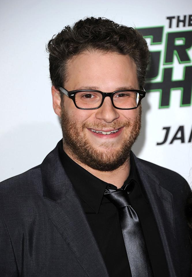 """<a href=""""http://movies.yahoo.com/movie/contributor/1804494942"""">Seth Rogen</a> attends the Los Angeles premiere of <a href=""""http://movies.yahoo.com/movie/1808411967/info"""">The Green Hornet</a> on January 10, 2011."""