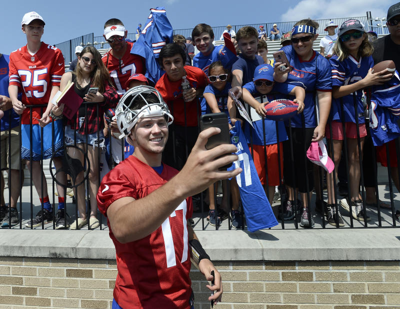 Forever hopeful: One Buffalo Bills fan is already planning a parade in case quarterback Josh Allen leads the team to Super Bowl LIV. (AP)