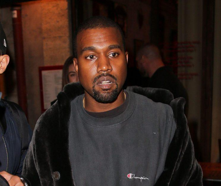 Kanye immediately jetted to Paris to support Kim Copyright: Rex