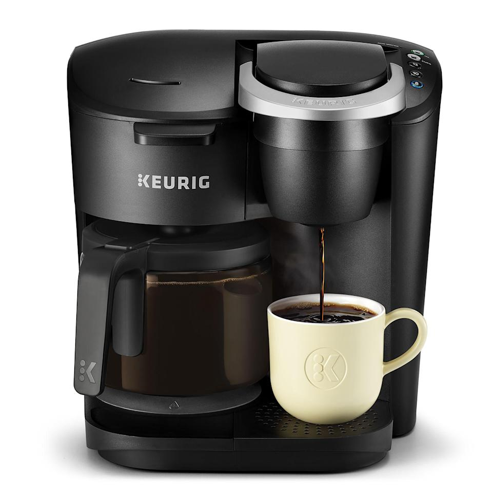 """<p><strong>Keurig</strong></p><p>walmart.com</p><p><a href=""""https://go.redirectingat.com?id=74968X1596630&url=https%3A%2F%2Fwww.walmart.com%2Fip%2F244686900&sref=https%3A%2F%2Fwww.countryliving.com%2Fshopping%2Fg34360785%2Fwalmart-amazon-prime-day-big-save-deals-2020%2F"""" rel=""""nofollow noopener"""" target=""""_blank"""" data-ylk=""""slk:Shop Now"""" class=""""link rapid-noclick-resp"""">Shop Now</a></p><p><strong><del>$99</del> $79 (20% off)</strong></p><p>Ditch buying coffee every day and invest in this coffee maker, which can use both ground coffee and K-Cup pods. It can also brew a single cup or a whole carafe. <br></p>"""
