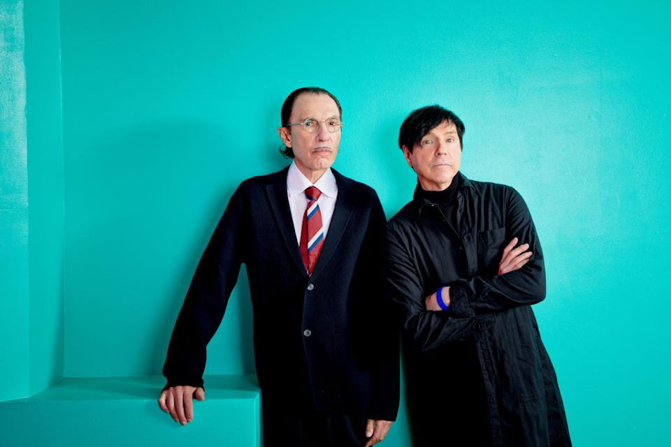 """Edgar Wright's documentary """"The Sparks Brothers"""" chronicles  the eccentric California-bred brothers of the band Sparks - Ron (left) and Russell Mael - and their continually evolving music over the past 50-plus years."""