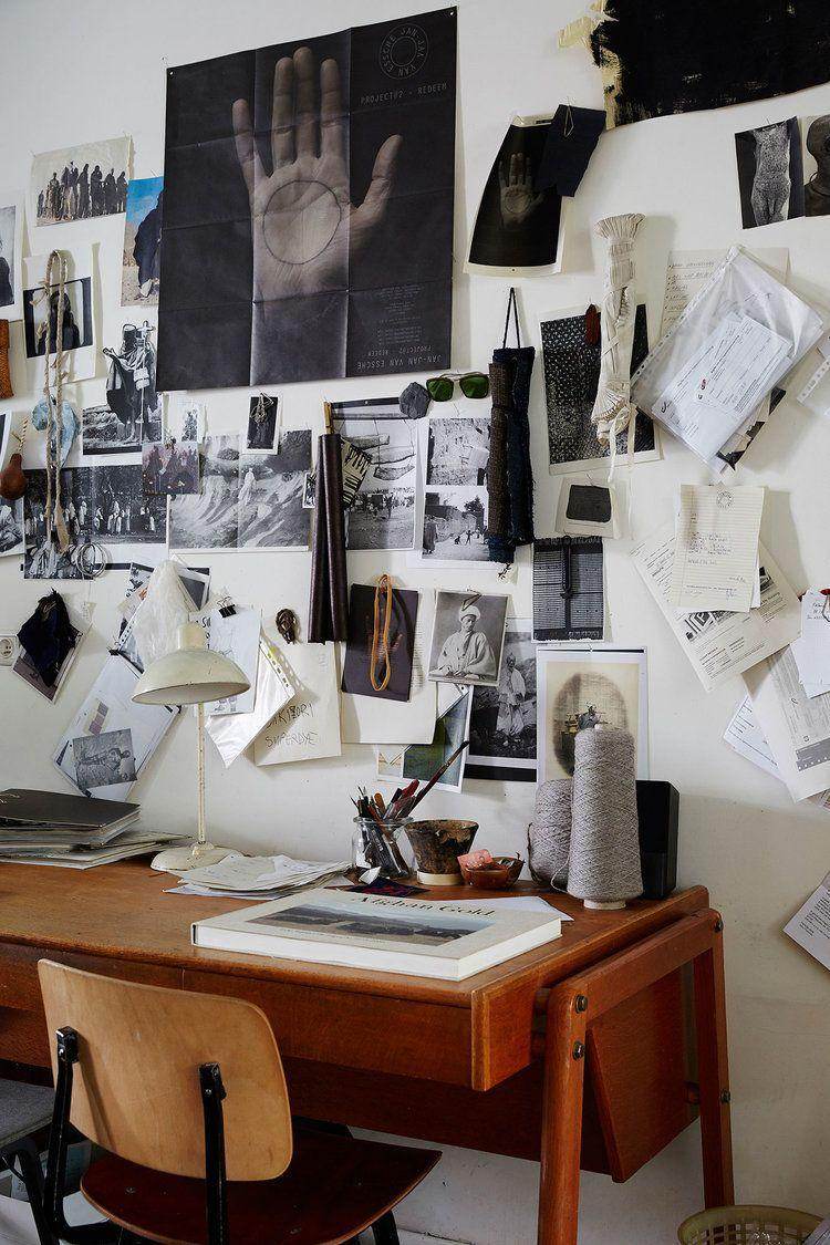 <p>If you like to brainstorm by hand and tend to accumulate a bunch of loose papers during your creative process, come up with a system that keeps clutter at bay. Whether that means using your walls or drawers, it's always best to keep your surfaces clean and clear in a sewing room (particularly small ones). </p>