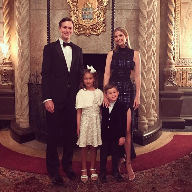 Ivanka Trump was at the family bash with her husband and kids. Photo: Instagram