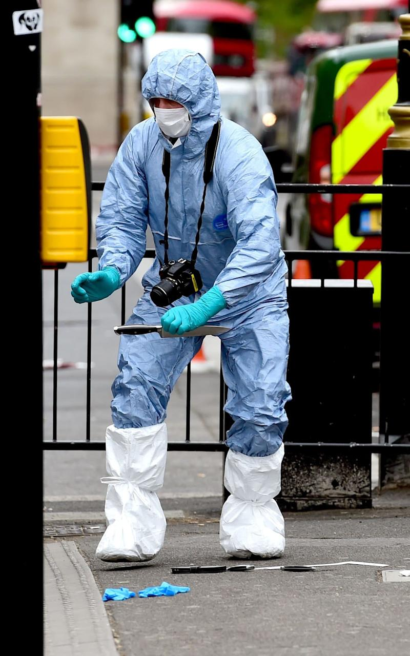 A suspect was arrested following an incident in Whitehall in London - Credit: Lauren Hurley/PA Wire