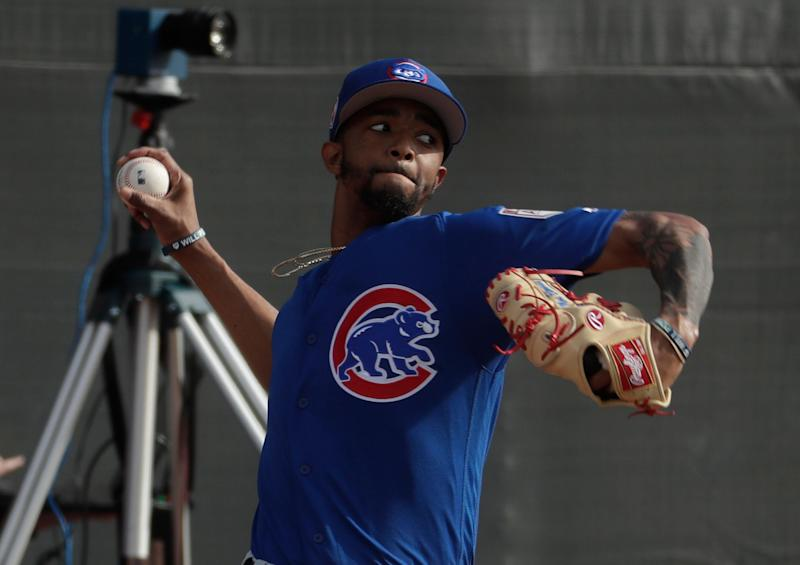 Chicago Cubs' pitcher Carl Edwards Jr. could face a fine or suspension at admittedly throwing out and hitting a batter during spring training. (AP)