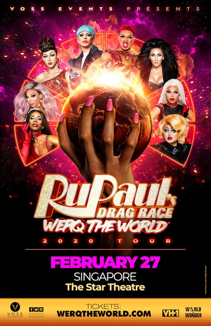 RuPaul main poster. (PHOTO: Voss Events)