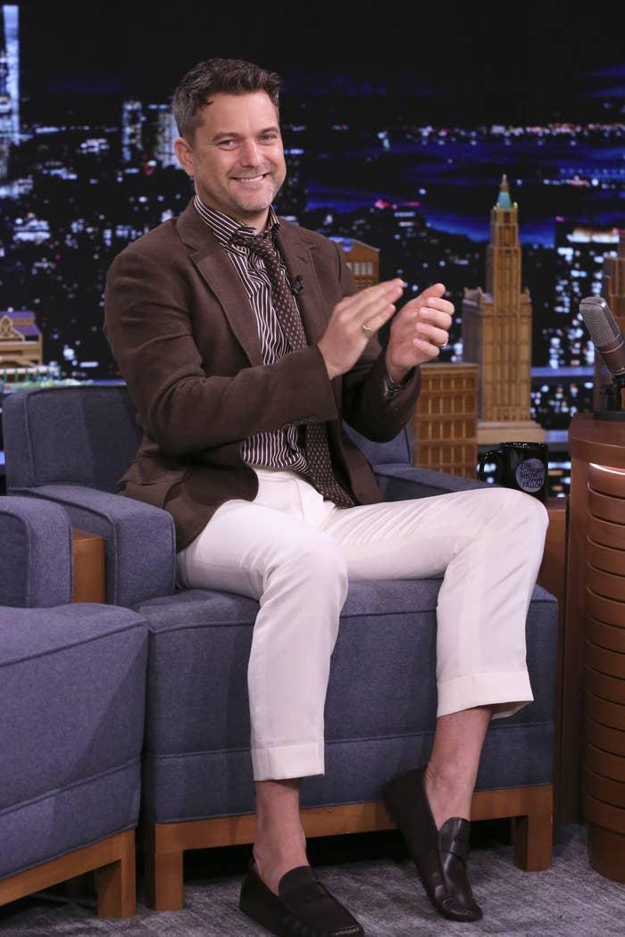 Joshua Jackson is pictured during an appearance on The Tonight Show Starring Jimmy Fallon