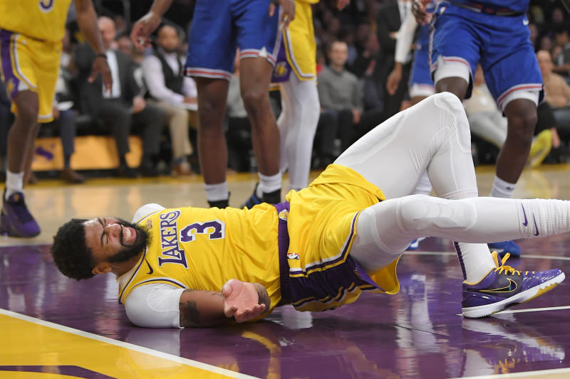 Lakers Star Davis Out Vs Mavs As Quick 2 Game Trip Opens