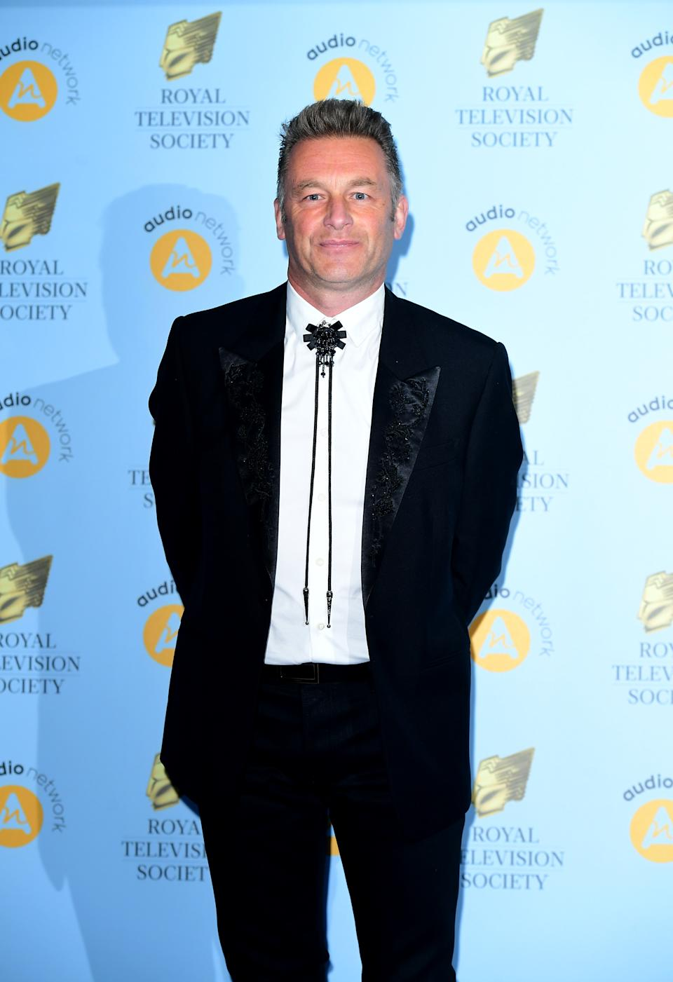 Chris Packham attending the Royal Television Society Programme Awards at Grosvenor House Hotel, Park Lane, London.