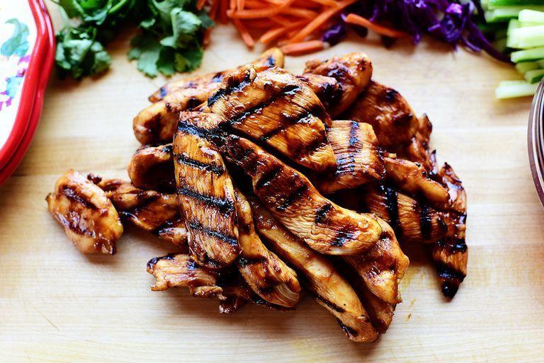 """<p>This marinade is jam-packed with flavor, which makes it the perfect partner for lighter foods like lettuce wrapped. Hoisin, soy, and sriracha sauce give it a tasty punch.<br></p><p><strong><a href=""""https://www.thepioneerwoman.com/food-cooking/recipes/a76205/lettuce-wraps/"""" rel=""""nofollow noopener"""" target=""""_blank"""" data-ylk=""""slk:Get Ree's recipe."""" class=""""link rapid-noclick-resp"""">Get Ree's recipe.</a></strong></p><p><strong><a class=""""link rapid-noclick-resp"""" href=""""https://go.redirectingat.com?id=74968X1596630&url=https%3A%2F%2Fwww.walmart.com%2Fsearch%2F%3Fquery%3Dpioneer%2Bwoman%2Bserving%2Bplatters&sref=https%3A%2F%2Fwww.thepioneerwoman.com%2Ffood-cooking%2Frecipes%2Fg36491151%2Fmarinade-recipes-for-grilling%2F"""" rel=""""nofollow noopener"""" target=""""_blank"""" data-ylk=""""slk:SHOP SERVING PLATTERS"""">SHOP SERVING PLATTERS</a><br></strong></p>"""
