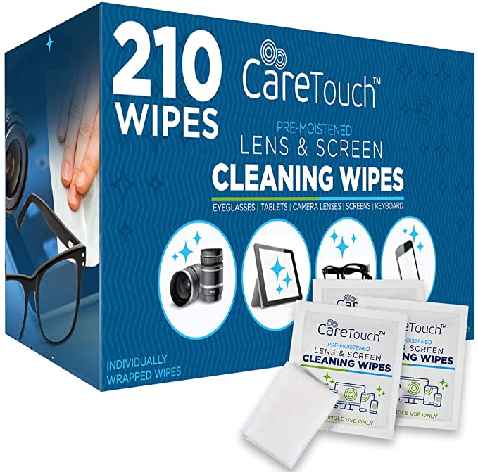 """<h3><a href=""""https://amzn.to/2M3wDyT"""" rel=""""nofollow noopener"""" target=""""_blank"""" data-ylk=""""slk:Care Touch Lens Cleaning Wipes (Pack of 210)"""" class=""""link rapid-noclick-resp"""">Care Touch Lens Cleaning Wipes (Pack of 210)</a></h3><br><strong>Amanda</strong><br><br><strong>How She Discovered It:</strong> """"I started wearing glasses again a few years ago and was in need of lens wipes, came across these!""""<br><br><strong>Why It's A Hidden Gem: </strong>""""I'm using them more than ever now that I'm working from home! I use them for my glasses, ipad, laptop, keyboard, everything! They're also great for on the go phone wipe downs in these pandemic times.""""<br><br><strong>Care Touch</strong> 210 Individually Wrapped Lens Cleaning Wipes, $, available at <a href=""""https://amzn.to/2M3wDyT"""" rel=""""nofollow noopener"""" target=""""_blank"""" data-ylk=""""slk:Amazon"""" class=""""link rapid-noclick-resp"""">Amazon</a>"""