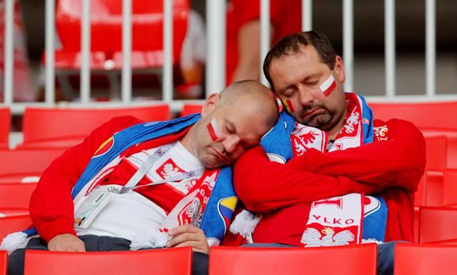 Soccer Football - World Cup - Group H - Poland vs Senegal - Spartak Stadium, Moscow, Russia - June 19, 2018 Poland fans before the match REUTERS/Maxim Shemetov TPX IMAGES OF THE DAY