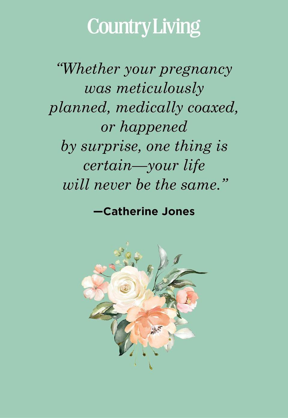 "<p>""Whether your pregnancy was meticulously planned, medically coaxed, or happened by surprise, one thing is certain—your life will never be the same."" </p>"