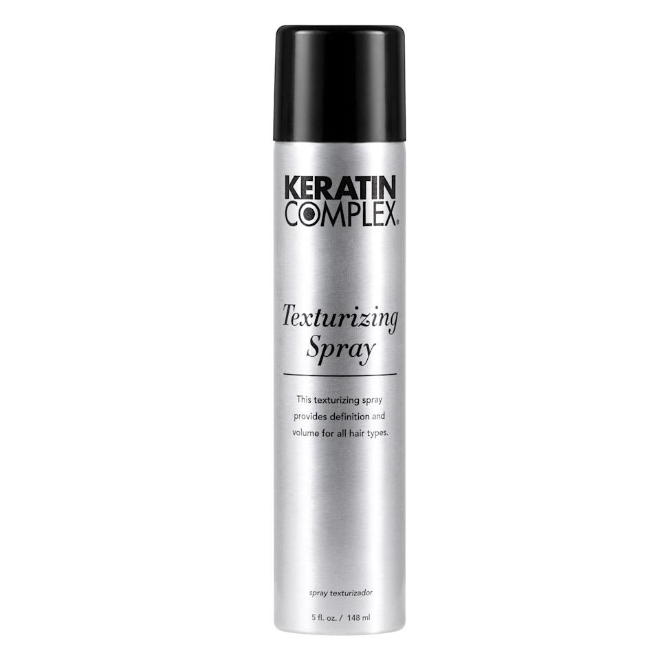 """Even if you aren't headed to a warm destination this Thanksgiving, you deserve beachy hair. You deserve a crown that's perfectly tousled, full of body, and doesn't fall flat once you step outside. Keratin Complex's new Texturizing Spray offers that and more, like UV protectants (for when it's warm and sunny again). Use this on straight hair to add some fullness, or if your hair happens to naturally have <a href=""""https://www.allure.com/gallery/curl-hair-type-guide?mbid=synd_yahoo_rss"""" rel=""""nofollow"""">loose curls</a>, you can use this to enhance your second- or third-day hair.<br> <br> <strong>$24</strong> (<a href=""""https://shop-links.co/1690557312604302271"""" rel=""""nofollow"""">Shop Now</a>)"""