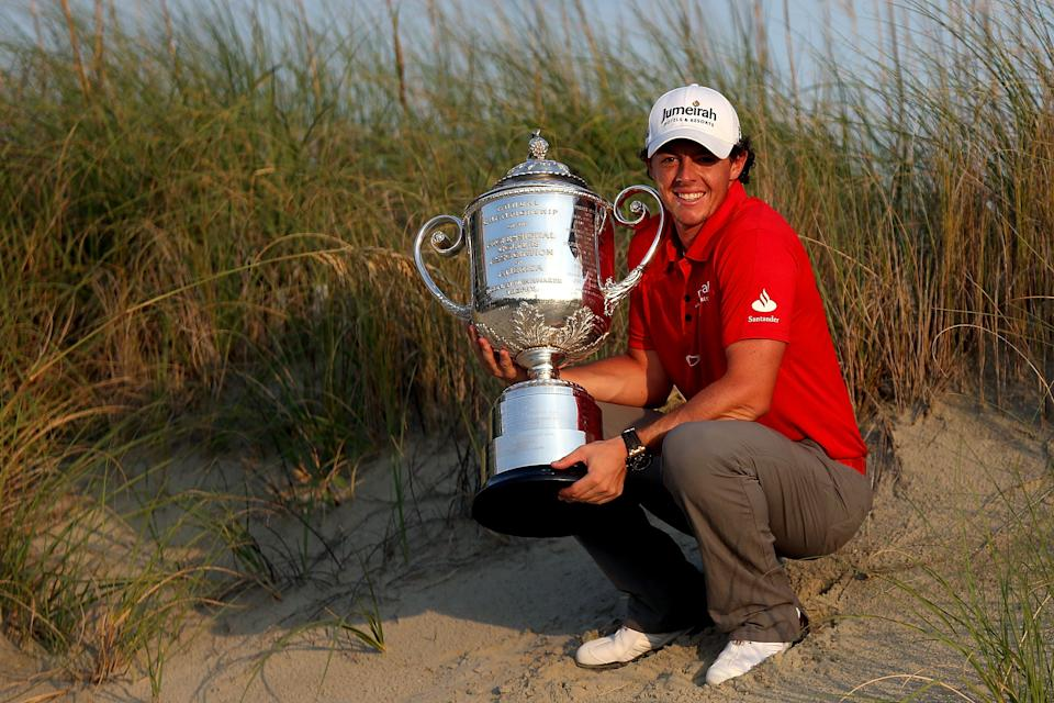 Rory McIlroy, triumphant at Kiawah in 2012.  (Photo by David Cannon/Getty Images)