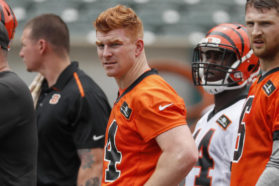 The Cincinnati Bengals said they are satisfied with quarterback Andy Dalton. (AP)