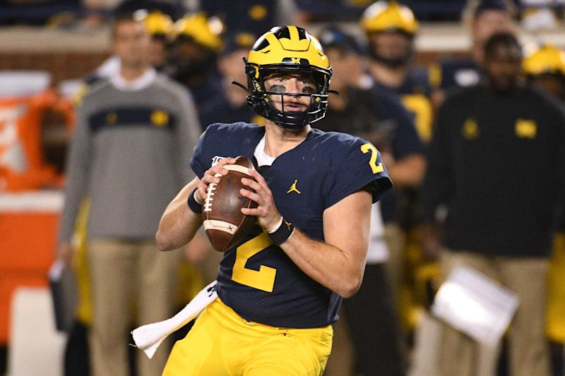 Shea Patterson and the Michigan Wolverines are 2-0 so far this season but haven't exactly impressed. Will that change against Wisconsin? (USA Today)