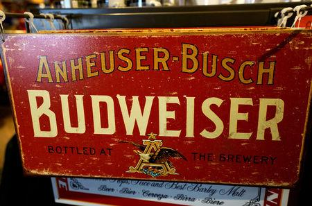FILE PHOTO: A souvenir sign is for sale in the gift shop of the Anheuser-Busch brewery in Fort Collins