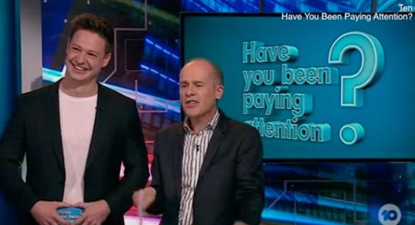 Matt's turn as quizmaster on the gameshow has raised more questions than answers. Photo: Ten