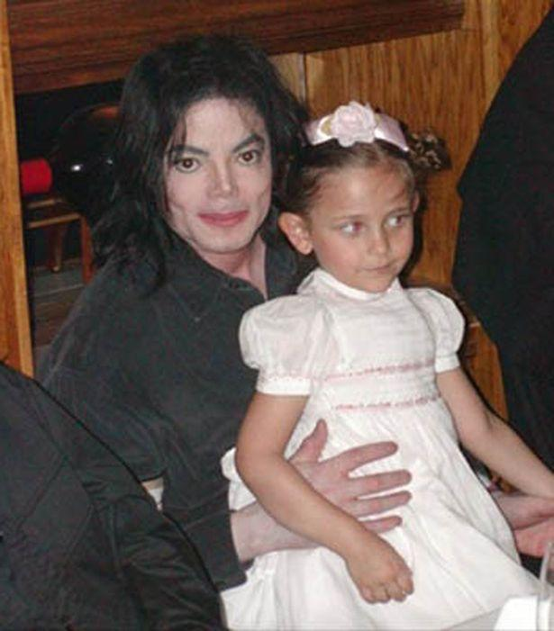 Paris with her late father, Michael Jackson