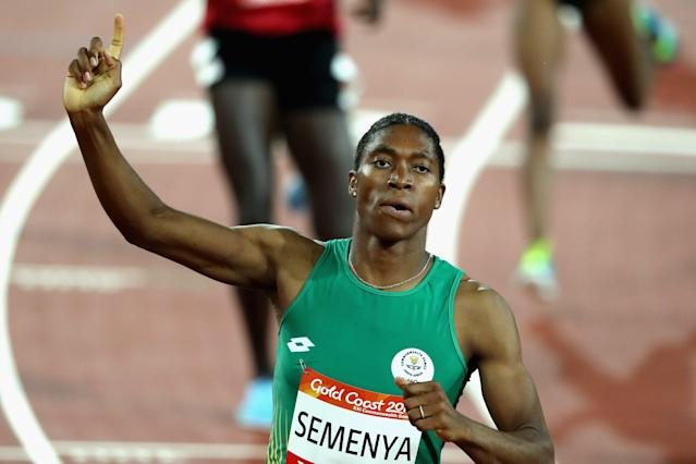 Caster Semenya on day nine of the Gold Coast 2018 Commonwealth Games at Carrara Stadium on April 13, 2018 on the Gold Coast, Australia.