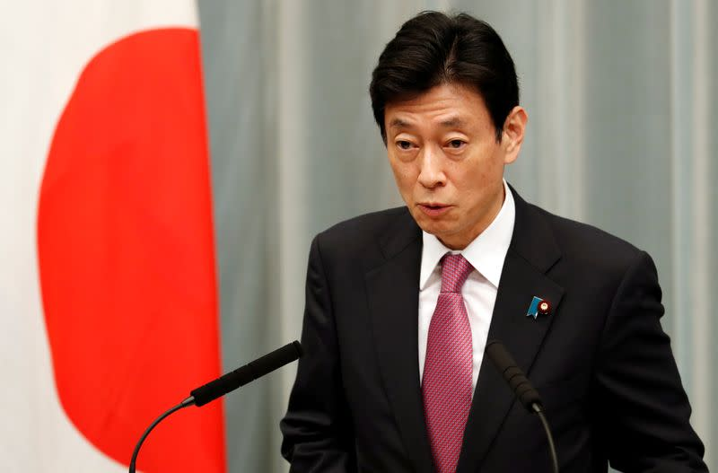 Japan's economy minister instructed by new PM to take steps without hesitation