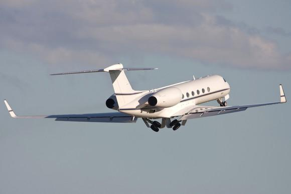 Gulfstream business jet