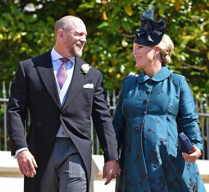 Mike Tindall and Zara Tindall attending the wedding of Prince Harry and Meghan Markle.