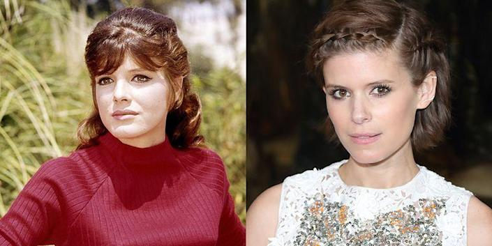 <p>Are we seeing double? We think it's their brown eyes that make Kate Mara looks just like <em>The Graduate</em> star, Katharine Ross.</p>