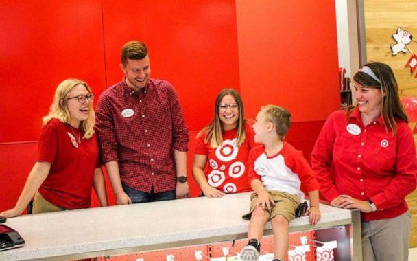 PHOTO: Cooper's mom said that the employees at Target did 'were so thrilled' to host him for the day. (Hannah Rickman/Momgical Photography)