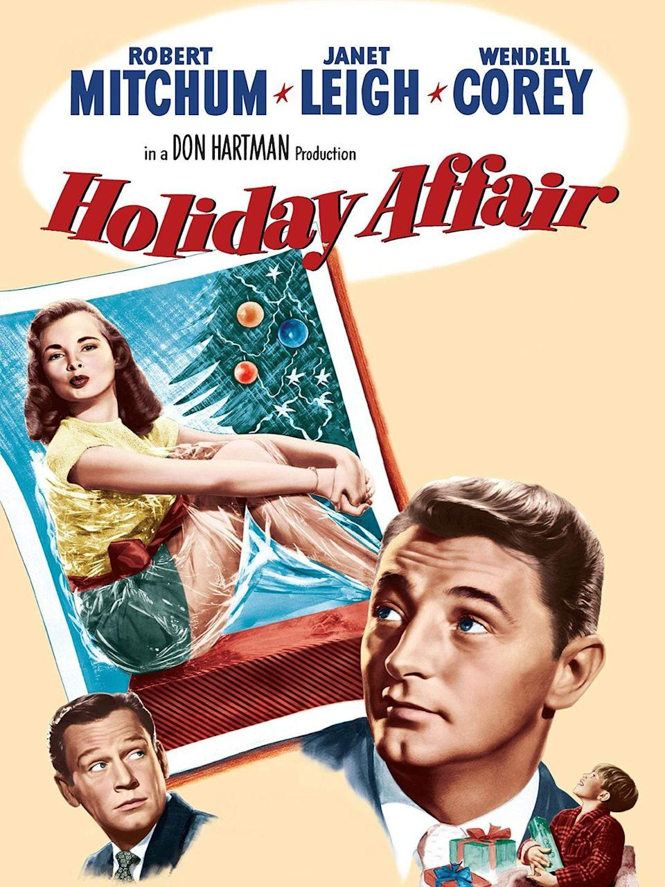 """<p>Set in and around a New York department store during the holiday season, this romantic comedy was a box office failure when it came out in 1949. Since then, it's become a Christmas movie classic thanks to repeated airings on TCM over the years.</p><p><a class=""""link rapid-noclick-resp"""" href=""""https://www.amazon.com/Holiday-Affair-Robert-Mitchum/dp/B0042R4OOK/?tag=syn-yahoo-20&ascsubtag=%5Bartid%7C10055.g.1315%5Bsrc%7Cyahoo-us"""" rel=""""nofollow noopener"""" target=""""_blank"""" data-ylk=""""slk:WATCH NOW"""">WATCH NOW</a></p>"""