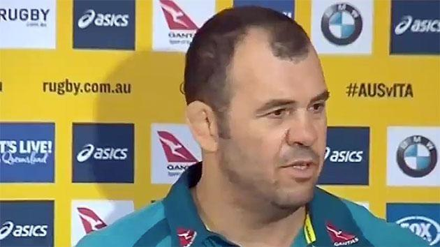 Cheika puts reporter in place over Pulver question