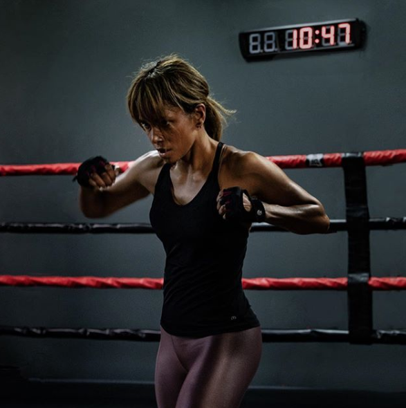 """<p>""""Boxing is still considered one of the best full-body workouts,"""" Halle wrote on <a href=""""https://www.womenshealthmag.com/fitness/a22826493/halle-berry-boxing-workout/"""" rel=""""nofollow noopener"""" target=""""_blank"""" data-ylk=""""slk:Instagram"""" class=""""link rapid-noclick-resp"""">Instagram</a>, next to photos of herself and her trainer, Thomas, looking like boxing champs. """"You'll sculpt every muscle and burn major calories and fat. It dramatically decreases stress levels, develops hand-eye coordination, and builds confidence and discipline. But most importantly...you'll never stop learning.""""</p>"""