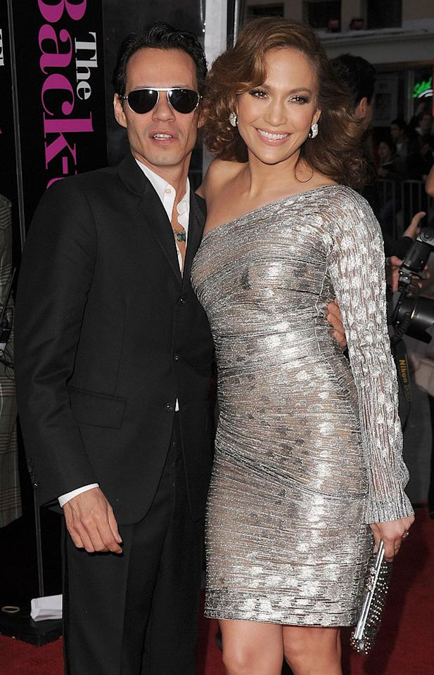 """<a href=""""http://movies.yahoo.com/movie/contributor/1800254749"""">Marc Anthony</a> and <a href=""""http://movies.yahoo.com/movie/contributor/1800023864"""">Jennifer Lopez</a> at the Los Angeles premiere of <a href=""""http://movies.yahoo.com/movie/1810107558/info"""">The Back-up Plan</a> - 04/21/2010"""