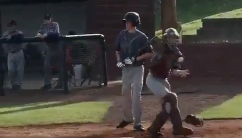 Luke Terry behind the plate. (@tholland25)