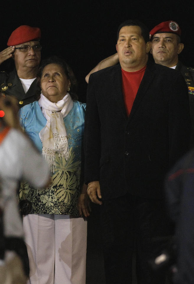 Chavez with his mother, Elena Frias, which whom he maintains a close relationship and accompany him to many official activities. AP Photo / Fernando Llano