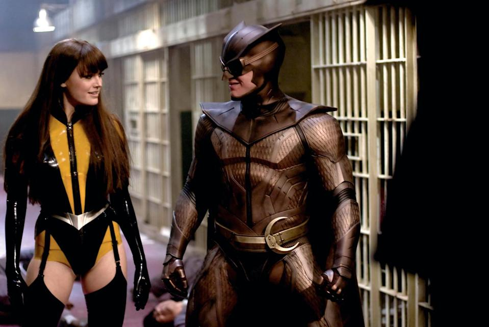 Malin Akerman and Patrick Wilson in Watchmen (Universal Pictures 2009)