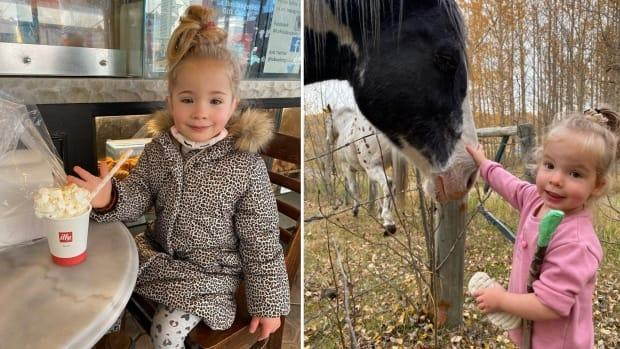 Cochrane RCMP say they are seeking help from the public to find two missing girls, five-year-old Leonine O'Driscoll-Zak and two-year-old Wyatt O'Driscoll-Zak. (Cochrane RCMP - image credit)