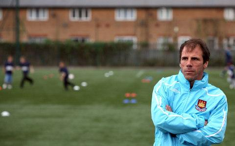 Gianfranco Zola at West Ham training - Credit:  Cathal McNaughton
