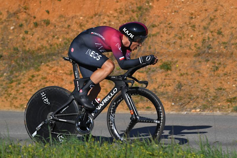 LAGOA PORTUGAL FEBRUARY 23 Micha Kwiatkowski of Poland and Team INEOS during the 46th Volta ao Algarve 2020 Stage 5 a 203km Individual Time Trial stage from Lagoa to Lagoa ITT VAlgarve2020 on February 23 2020 in Lagoa Portugal Photo by Tim de WaeleGetty Images