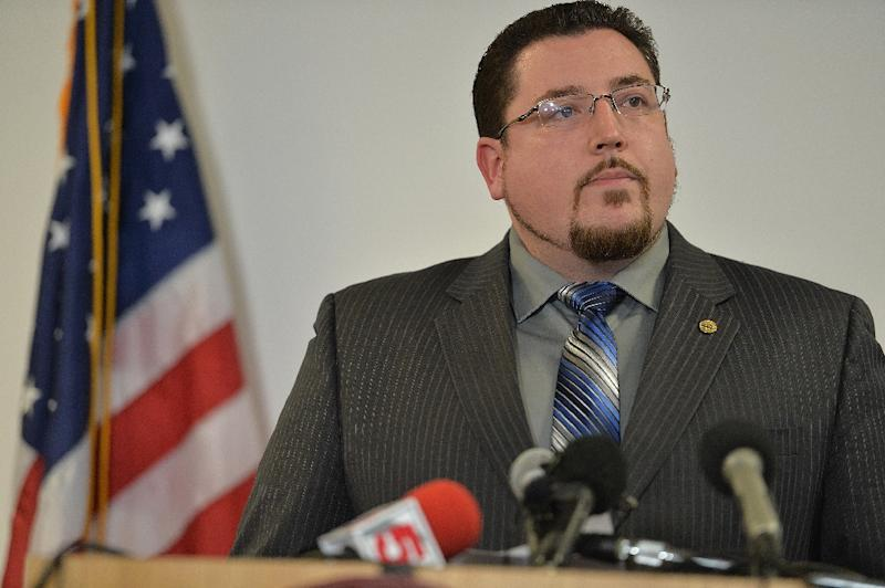 Ferguson Mayor James Knowles speaks at a news conference on March 4, 2015 in Ferguson, Missouri (AFP Photo/Michael B. Thomas)