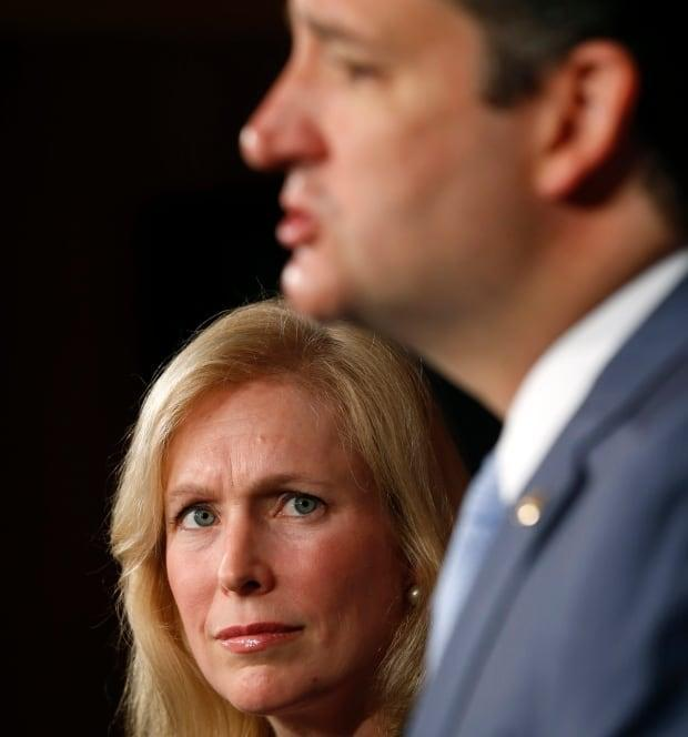 The reform effort has made unusual alliances. Democratic Sen. Kirsten Gillibrand and Republican Sen. Ted Cruz, seen here in 2013, have been promoting a bill to create an independent system for prosecutions of assault in the military.