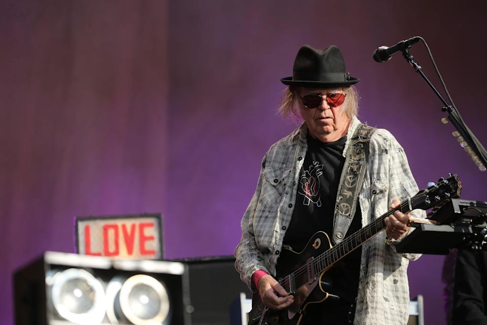 Neil Young sold his back catalogue to Hipgnosis (Isabel Infantes/PA) (PA Archive)