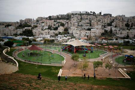FILE PHOTO: A playground is seen in this general view picture of the Israeli settlement of Modiin Illit in the occupied West Bank March 27, 2017. Picture taken March 27, 2017. REUTERS/Amir Cohen/File Photo
