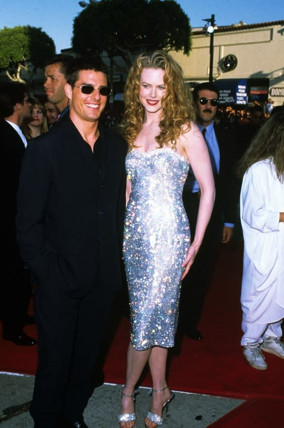 At the premiere of Batman Forever in LA, 1995